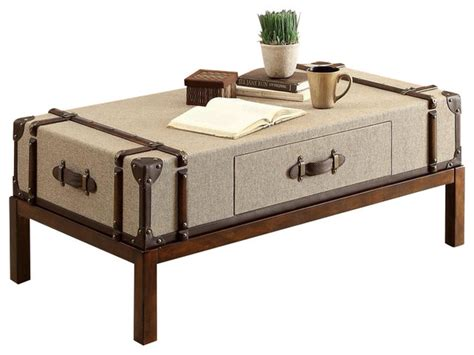 Riverside Furniture Bon Voyage Suitcase Cocktail Table In Suitcase Coffee Table