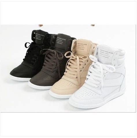 high top sneakers tennis shoes ankle boots white