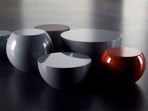Table Basse Rond 5866 low coffee table bongo by meridiani design andrea