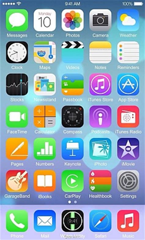 best layout for iphone apps purported ios 8 screenshot shows off new layout apps
