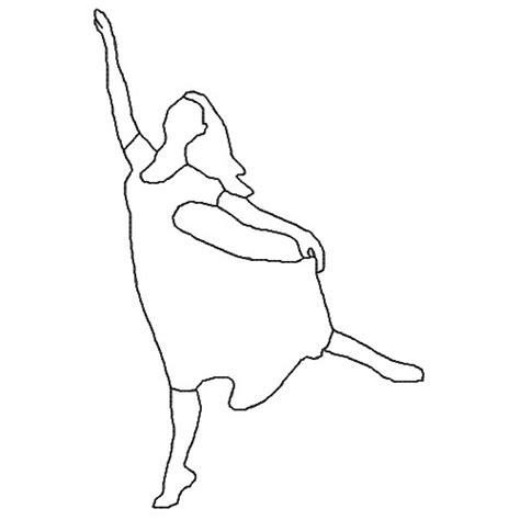 Dancer Outline by Dancer Outline Embroidery Design Annthegran