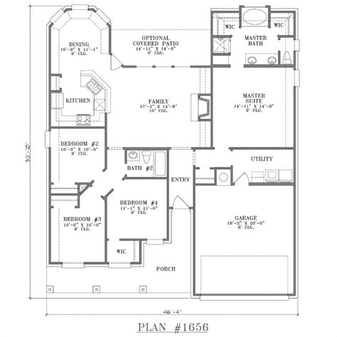 blueprints for new homes patio home floor plans free new home plans design