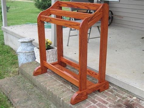 Handmade Quilt Rack by Handmade Oak Quilt Rack