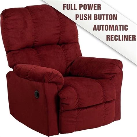 red microfiber recliner contemporary top hat microfiber power recliner in red am