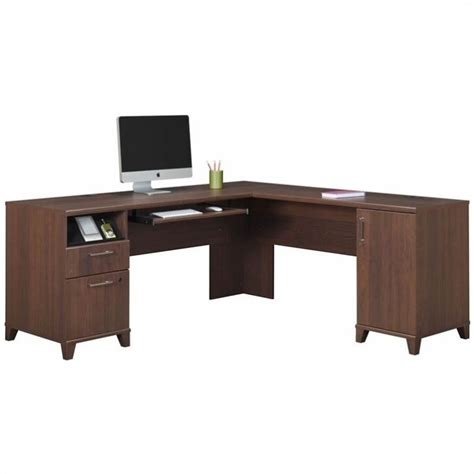 Bush Office Desks Bush Achieve L Shaped Desk In Sweet Cherry Pr67610k