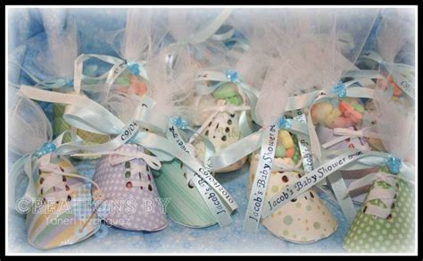 baby shower paper crafts baby shower favors booties by yaneri at