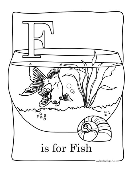 F Fish Coloring Page by Goodness Gracious F Is For Fish