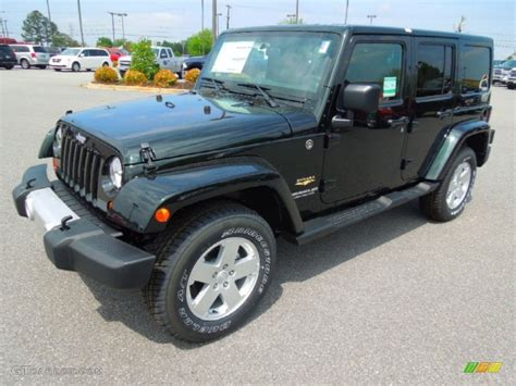 jeep dark green 2012 black forest green pearl jeep wrangler unlimited