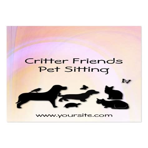 pet sitting business cards template critter friends pet sitting business card template zazzle