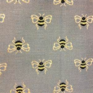Kitchen Upholstery Fabric by Bee Upholstery Fabric Bumble Bounce Junipher Grey Bee