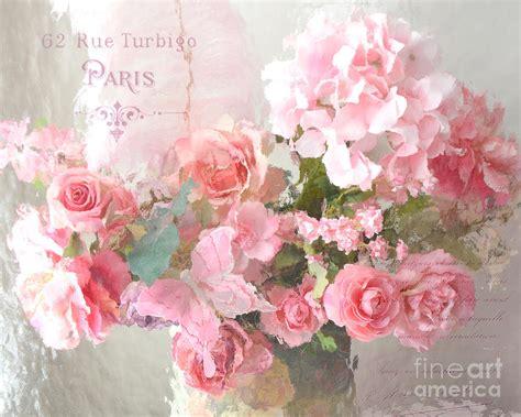paris shabby chic dreamy pink peach impressionistic