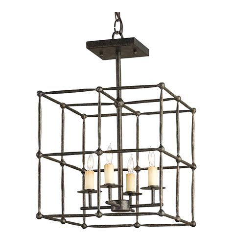 Industrial Cage Ceiling Light by Industrial Loft Rustic Square Iron Cage Semi Flush Ceiling