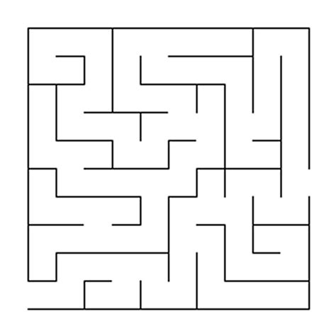 maze template free coloring pages of simple maze