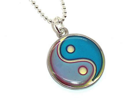 yin yang mood necklace color changing by weepinggrove