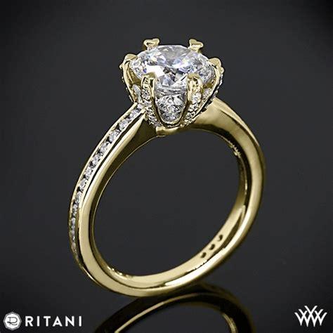 ritani setting channel set engagement ring 2072