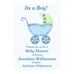 buggy carriage its a boy baby shower invitation zazzle