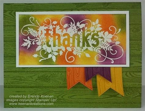 new card techniques fall card using emboss resist technique keenan kreations