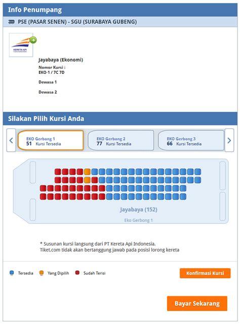 denah tempat duduk kereta api progo lebih mudah pesan tiket kereta mudik lebaran di tiket com
