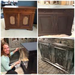 This beat up old stereo cabinet was made over using annie sloan s