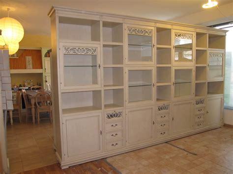 librerie stile provenzale parete libreria componibile provenzale chic