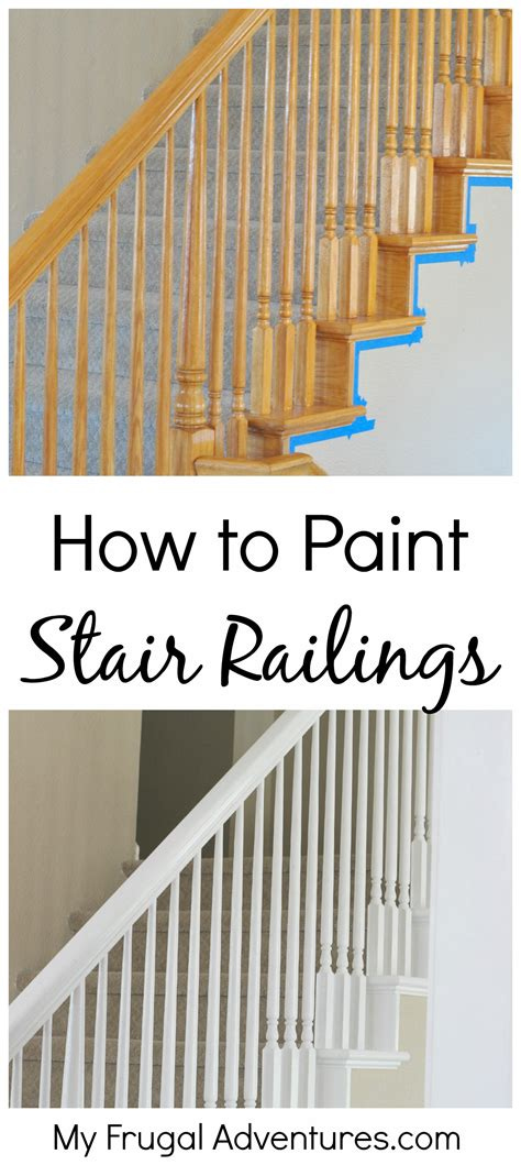How To Paint A Stair Banister by How To Paint Stairwells Frugal Adventures