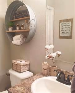 Antique Bathroom Decorating Ideas by Beige Wall Color With Antique Wall Decor For