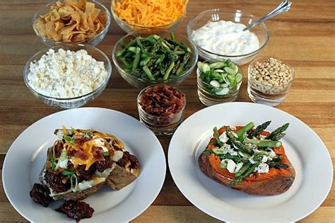 baked potato bar toppings ideas baked sweet potato bar