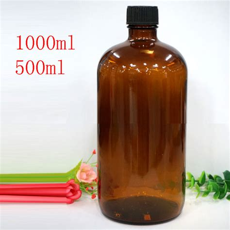 Big Promo 1000 Ml Carrot Seed Essential glass essential bottles with cap big size