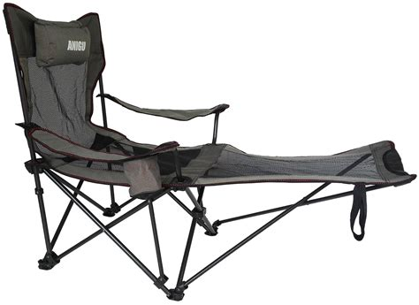 reclining outdoor chair with footrest anigu mesh lounge reclining folding c chair with