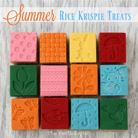 Summer Rice Shower the partiologist summer rice krispie treats
