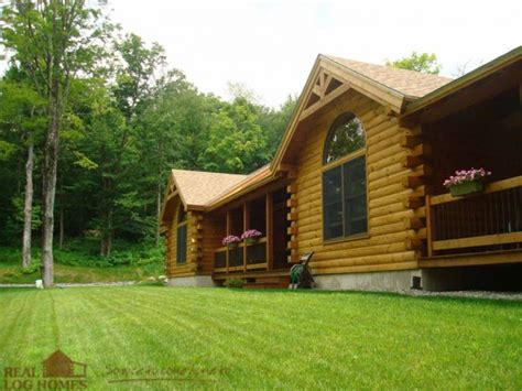underhill vt real log homes vermont log home