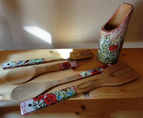 New Handmade Things - new handmade bamboo kitchen set 5 items country style