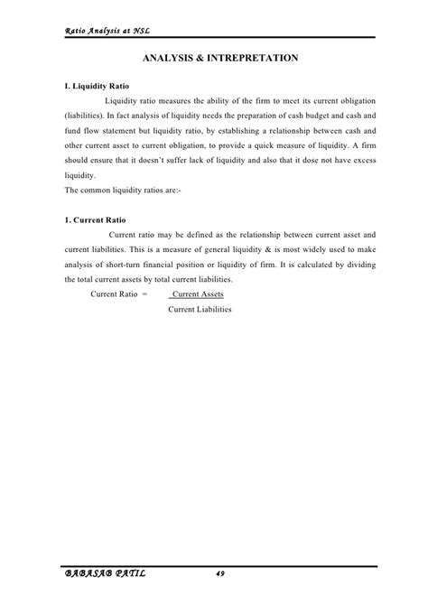 Mba Finance Project Report On Capital Budgeting by Ratio Analysis Nirani Sugar Limited Project Report Mba