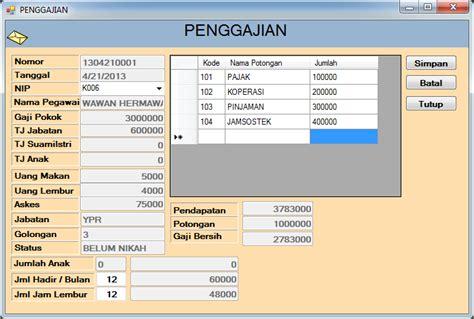 contoh slip gaji karyawan travel agent contoh slip gaji untuk aplikasi kartu kredit gambar con
