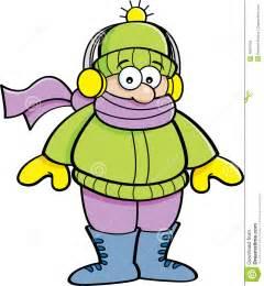 Cartoon kid wearing winter clothing stock vector image 46637658