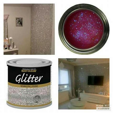 Glitter Interior Paint glitter on the walls how cool is that home decor home ideas