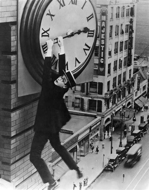 How Harold Lloyd Filmed Safety Last! | Chaplin-Keaton ... In Time Movie Clock