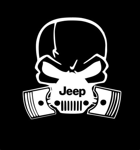 jeep vinyl decals jeep pistons skull mask vinyl decal sticker custom