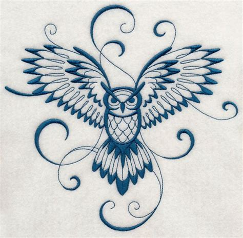 cool owl tattoo designs inky owl in flight admittedly this is a girly
