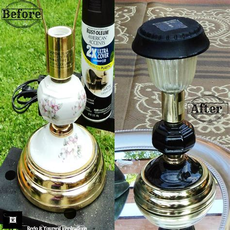 Diy Outdoor Solar Lighting From Recycled Ls Home Diy Solar Lighting