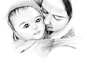 pin pencil sketch mother and baby tinted pictures on pinterest