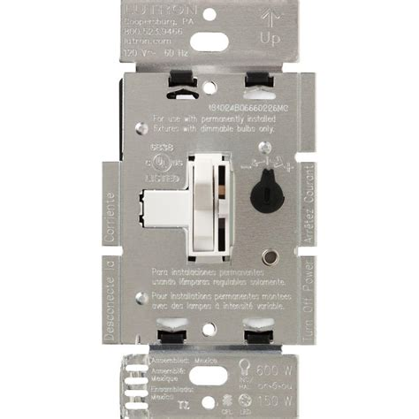lighted led dimmer switch lutron toggler 150 watt single pole 3 way cfl led dimmer