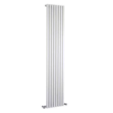 vertical designer radiator 1800 x 360mm white ex