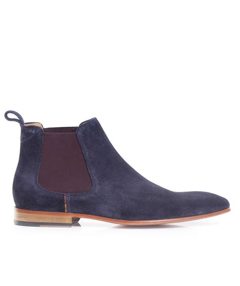 paul smith boots mens paul smith suede falconer chelsea boots in blue for lyst