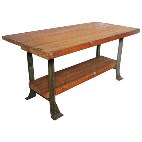vintage american industrial work table for sale at 1stdibs