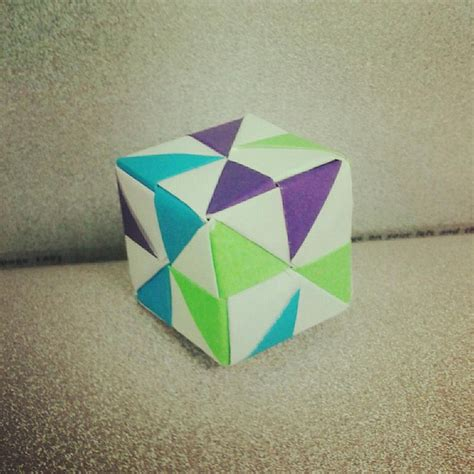Modular Cube Origami - pin by on diy papier