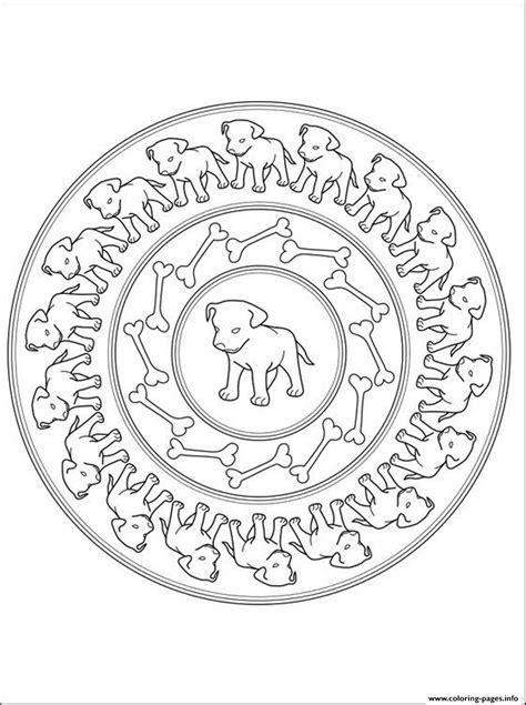 puppies mandala sa6ca coloring pages printable