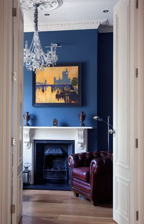 blue fireplace ideal fireplace mantel height homesfeed
