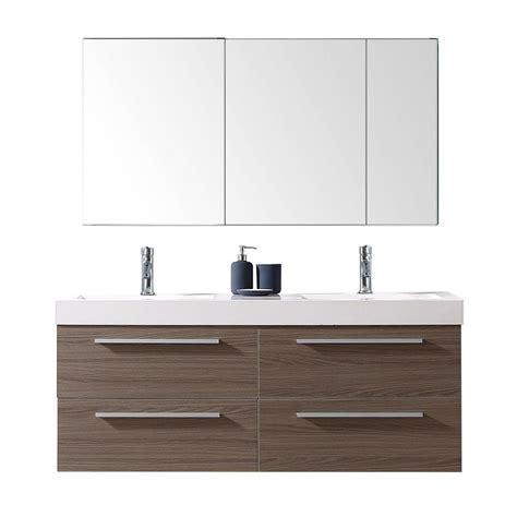 19 vanity with virtu usa finley 54 in w x 19 in d vanity in grey oak