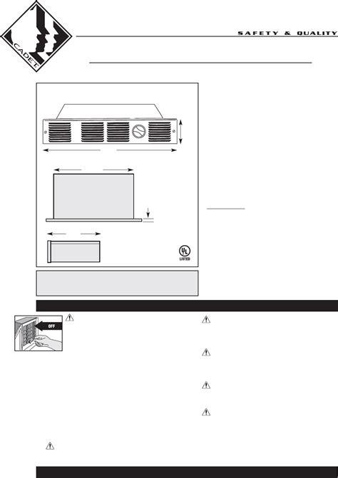 cadet baseboard heater manual cadet electric heater uc101 user guide manualsonline